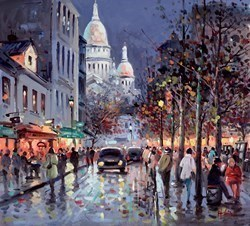 Evening in Montmartre by Henderson Cisz -  sized 20x18 inches. Available from Whitewall Galleries